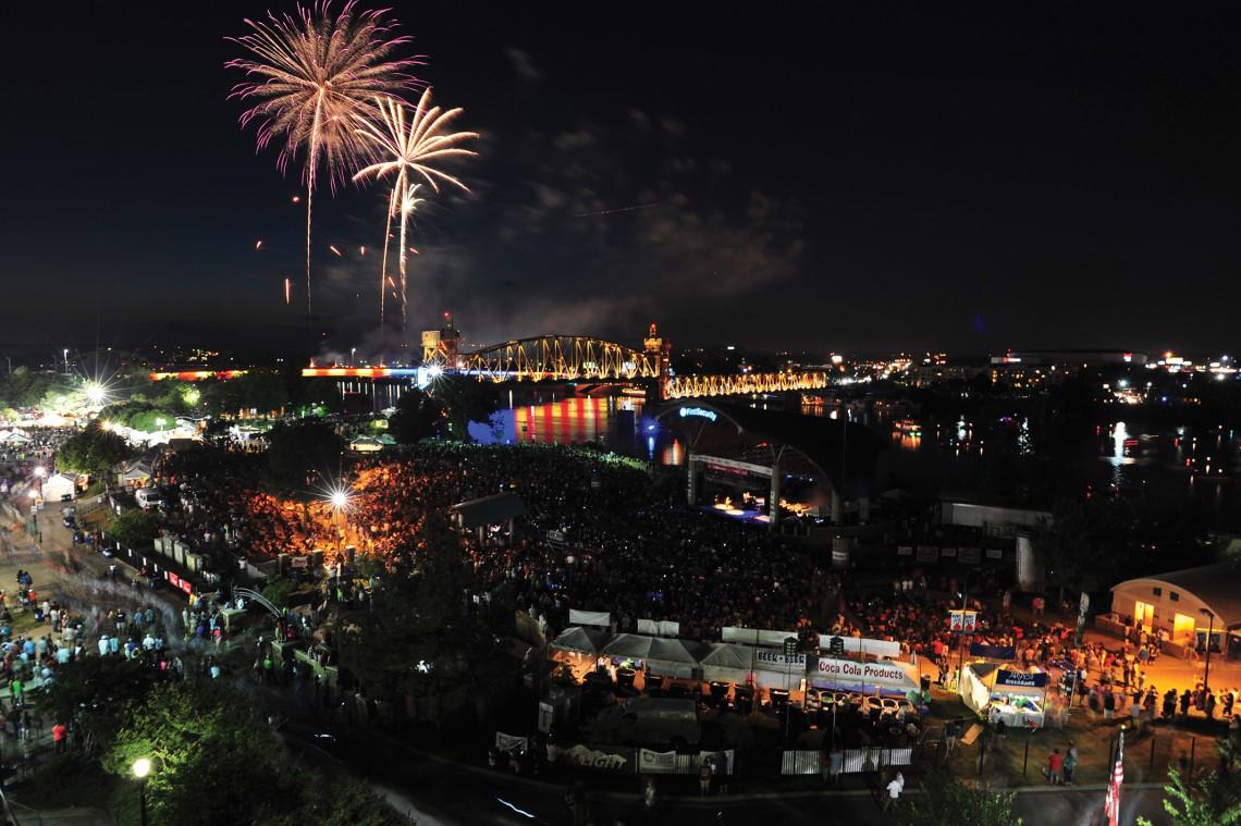 Riverfest is held along the Arkansas River banks in downtown Little Rock.
