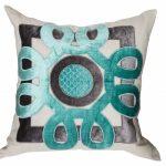 Linen and velvet pillow