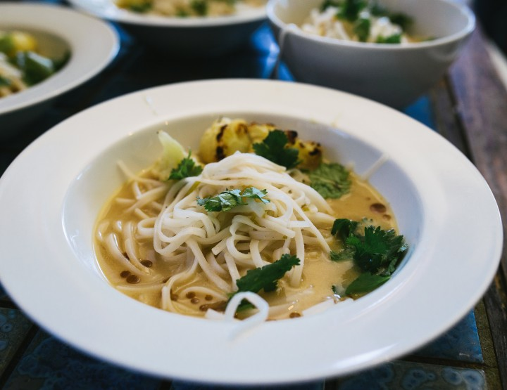 Asian Coconut Milk and Noodle Soup