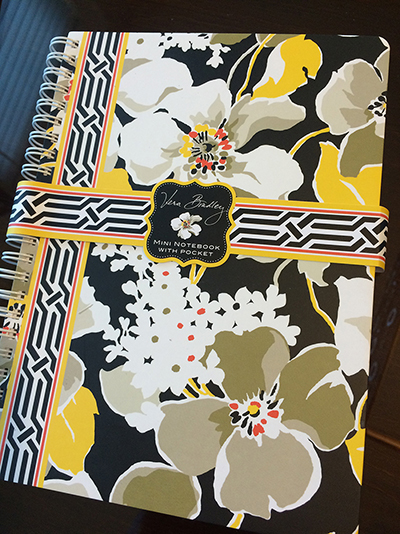 Vera Bradley mini notebook