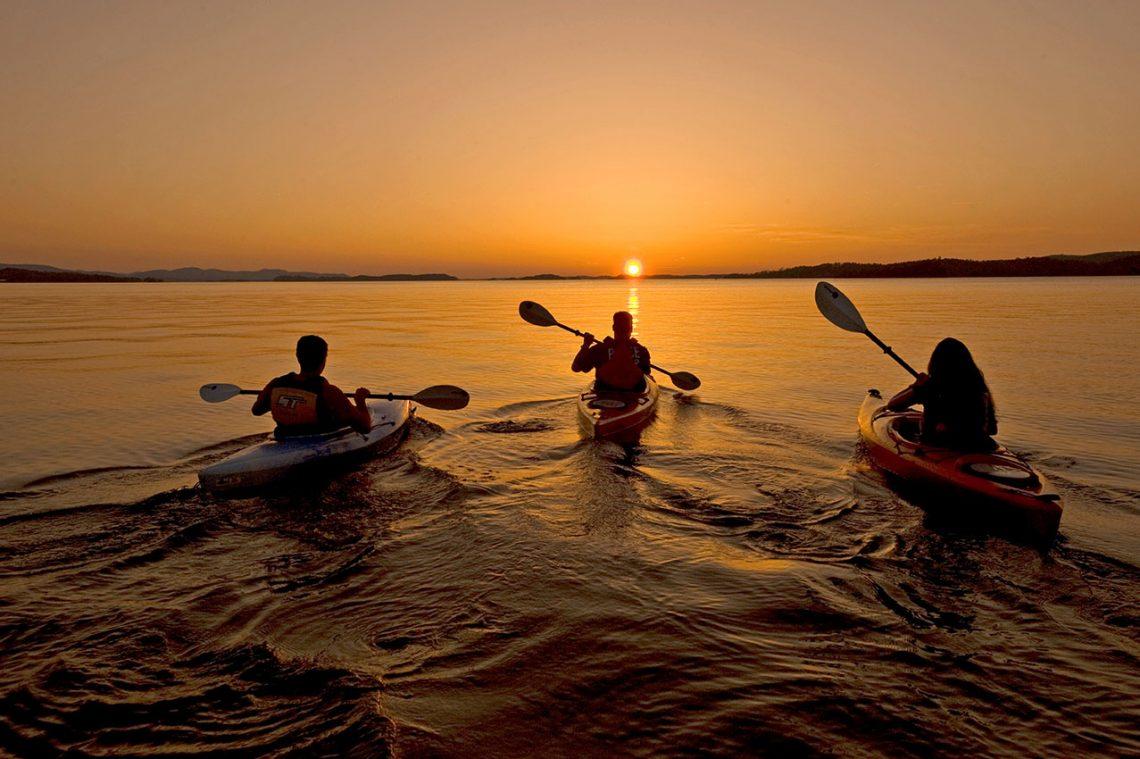 Kayaking at Lake Ouachita State Park near Mountain Pine