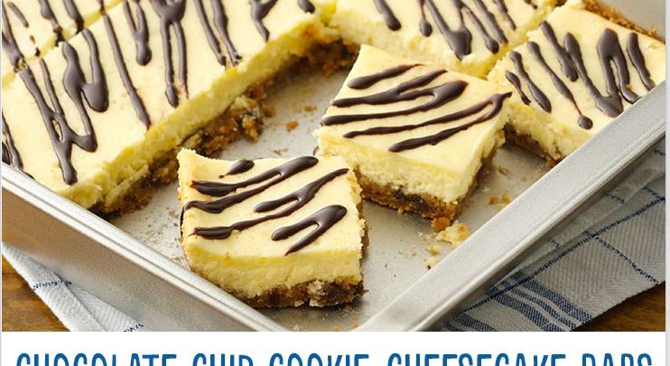 Midweek Nosh: Chocolate Chip Cookie-Cheesecake Bars