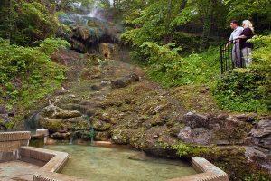 A natural hot spring at Hot Springs National Park.