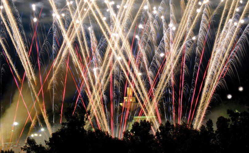 Fireworks at Arkansas State University at Mountain Home
