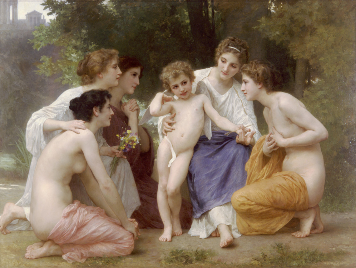 """William Adolphe """"Bouguereau's  Admiration,"""" special loan to Arkansas Arts Center"""