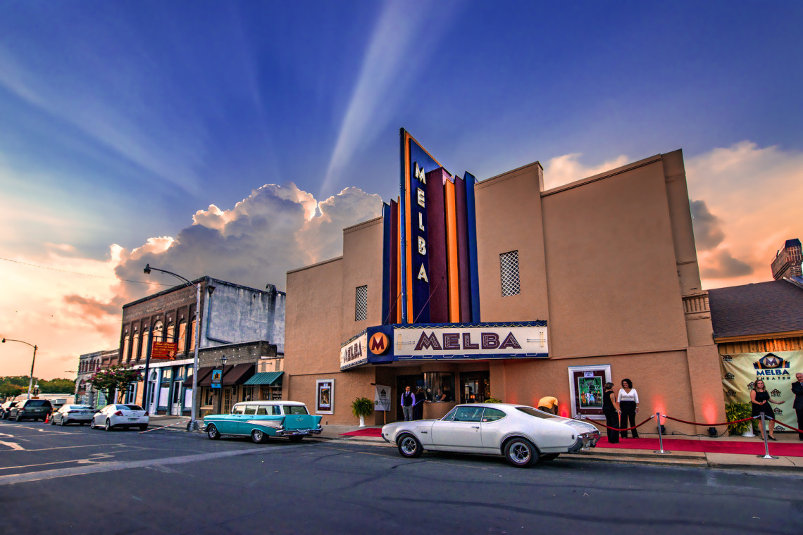 One of downtown Batesville's showpieces , the Melba debuted as an opera house in 1875. Movies were shown there beginning in the 1940's. It is on the National Register of Historic Places.