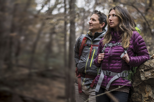 Chilly temperatures are not a reason to miss the great outdoors when you can enjoy Arkansas' winter beauty with the right preparations. Outdoor enthusiasts Thomas Wallace and Maura Montez of Little Rock enjoy a day hike in The Natural State.