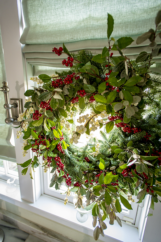 Wreaths add a holiday feel to any room in the home. They also provide another creative opportunity.