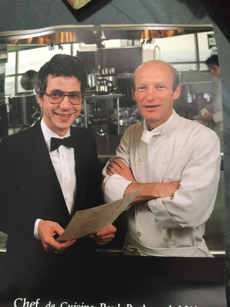 Louis Petit with chef Paul Bash in the Jacques and Suzanne kitchen, early 1980s. Bash, with partner Scott Novicky would open award-winning Spaule, Graffiti's, Restaurant 1620 and Purple Cow.