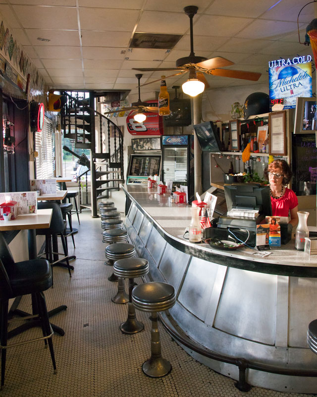 The trademark welded steel bar has seen thousands of diners since its opening in 1907.