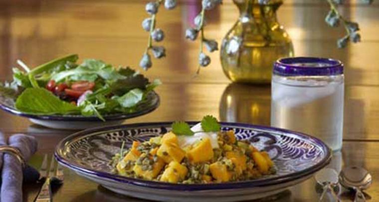A Fresh New Side Dish - Curried Lentils and Squash