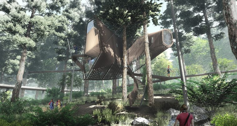 $1 Million Treehouse at Garvan Gardens Is Every Kid's Dream