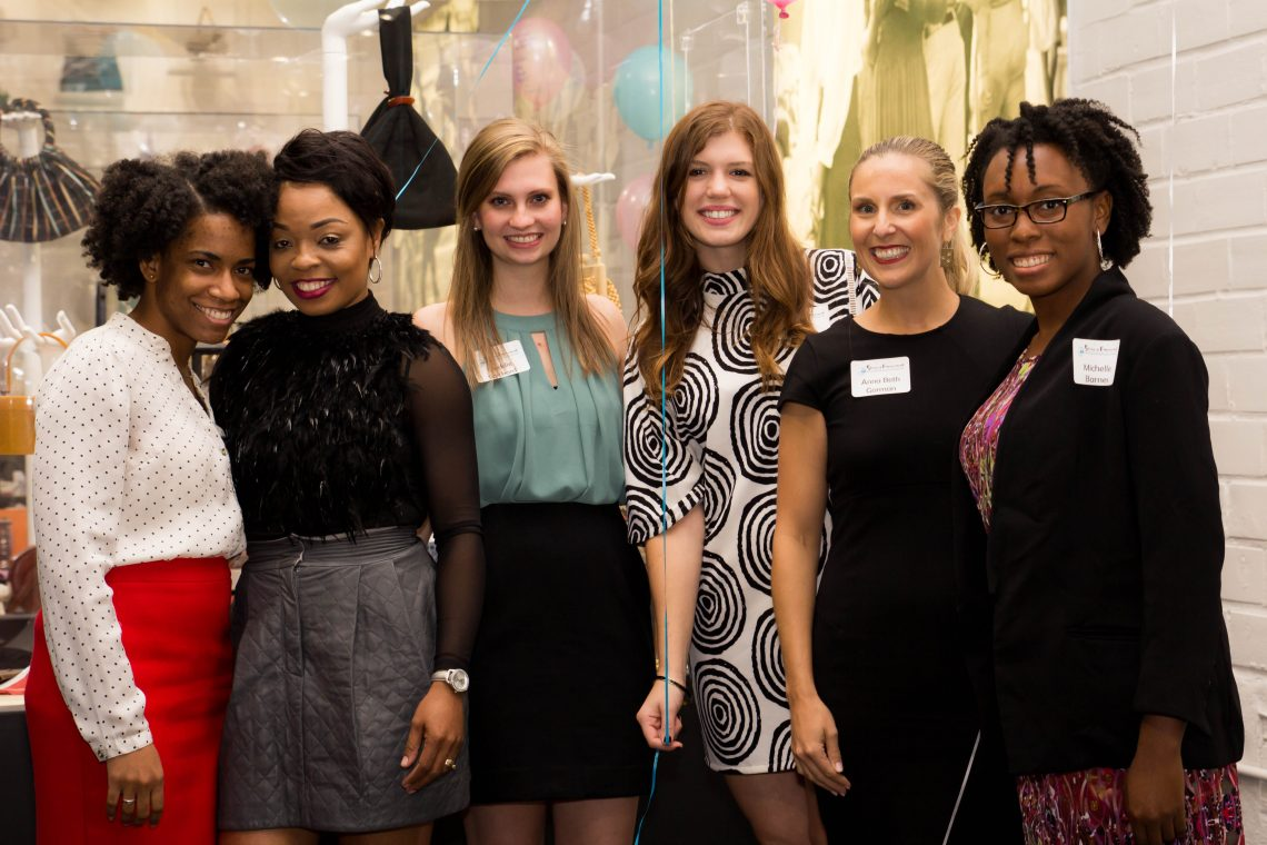 Stories of Empowerment committee and guest speakers pose for a photo following the September 29th session 'Women Rising.' From left to right: Jasmine Medley, Sericia Cole, Maddie Spickard, Abby Olivier, Anna Beth Gorman, and Michelle Barnes.