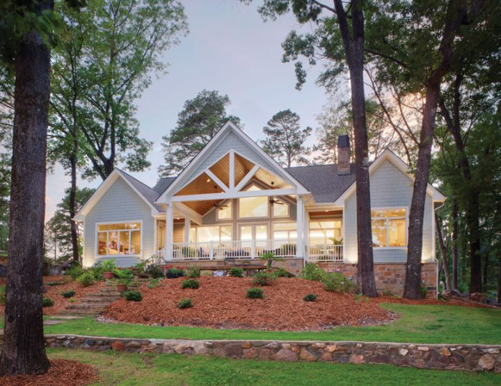 A Peaceful Lakeside Cottage: Little Rock Couple Builds Happy Home on Lake Hamilton