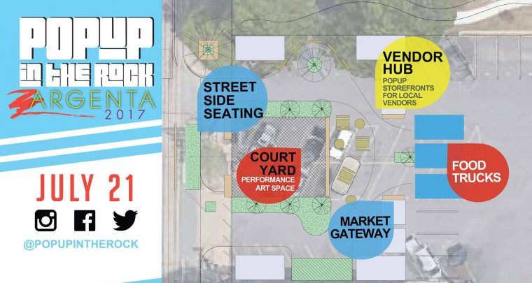 PopUp in the Rock to Transform Parking Lot into Creative Space