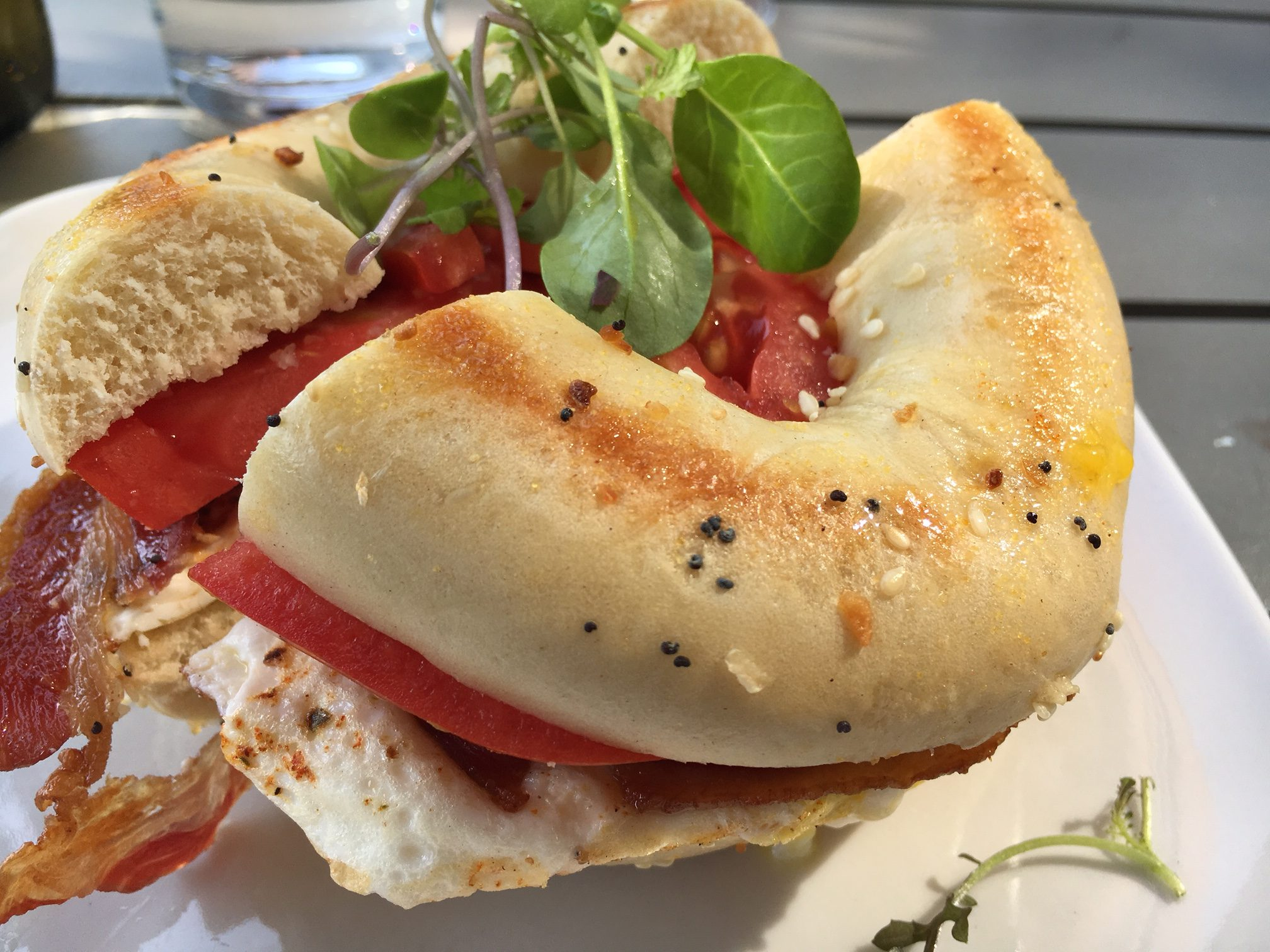 Bagel sandwich at Raduno