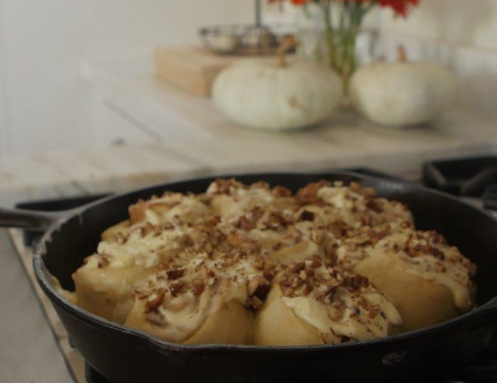 Recipe: Saffron-Pecan Pumpkin Cinnamon Buns with P. Allen Smith