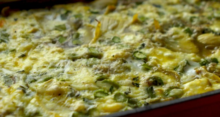 Recipe: Artichoke Asparagus Breakfast Bake from P. Allen Smith