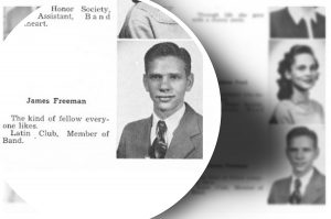 A yearbook photo of James Freeman, a person of interest in the Texarkana Phantom Killer case.