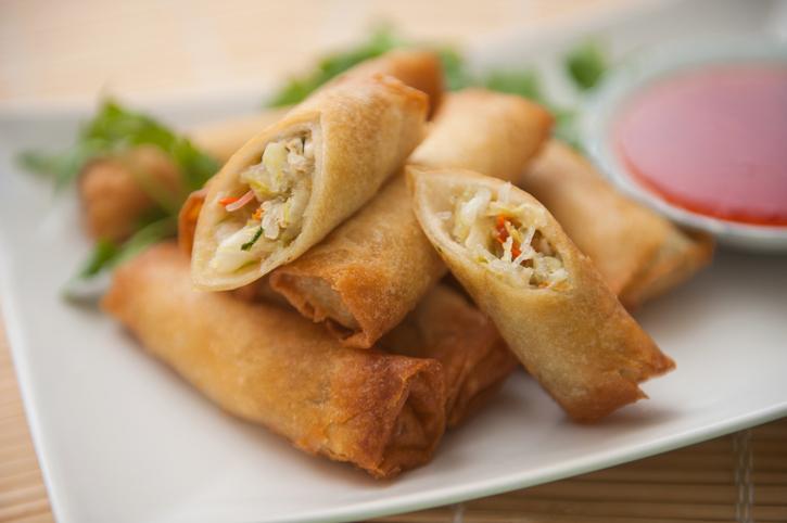 Egg rolls. Chinese, Vietnamese, Asian side dish.