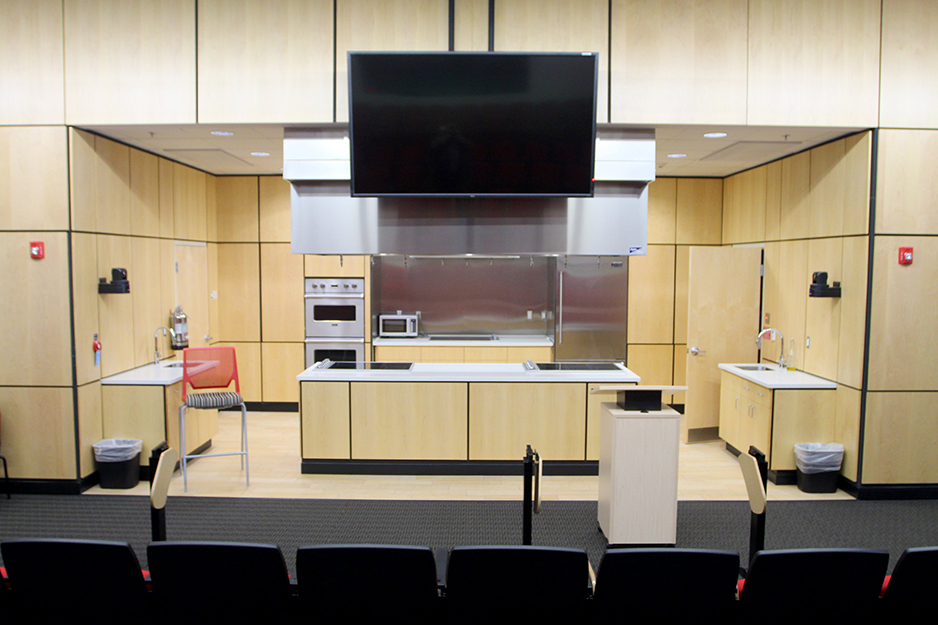 The celebrity chef kitchen at the Culinary Arts and Hospitality Management Institute in Little Rock