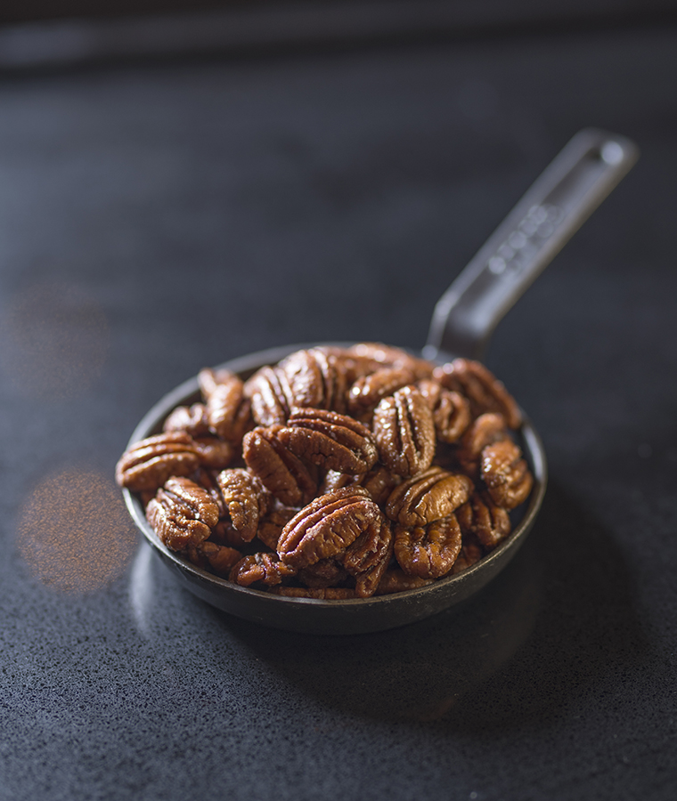 Spiced pecans at the Capital Bar and Grill
