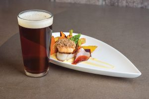 Stone's Throw Brewing's Heritage Pecan Brown Ale at Heritage Grille