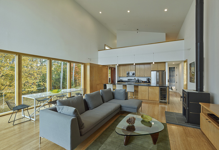 deMx architecture included lighter materials and finishes in the home