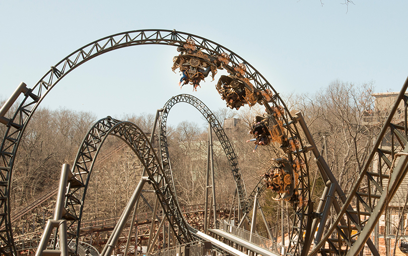 Time Traveler roller coaster in Branson's Silver Dollar City