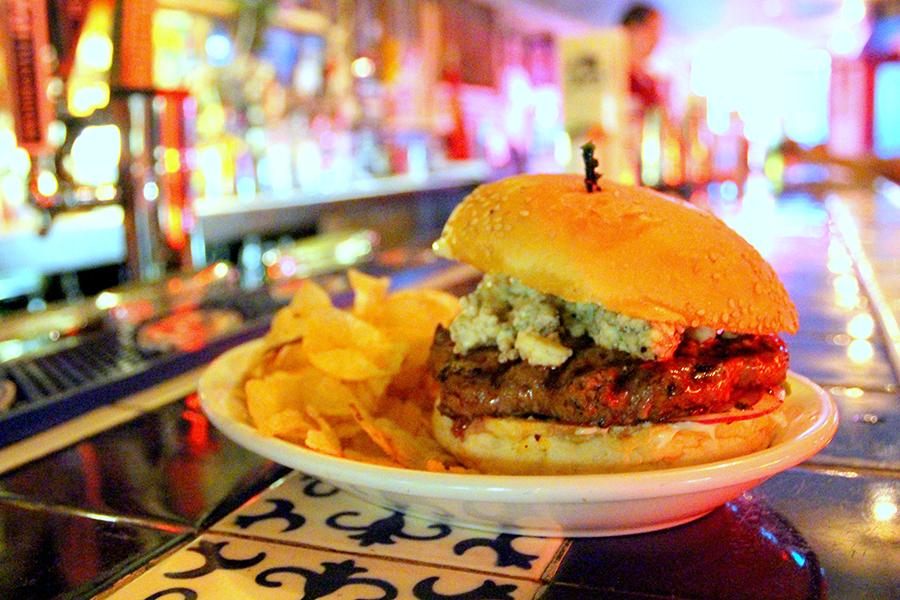 Hugo's Bleu Moon Burger. Photo by Kat Robinson
