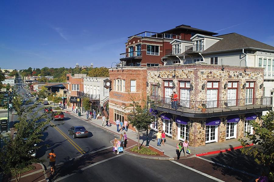 Fayetteville's Dickson Street is always alive.