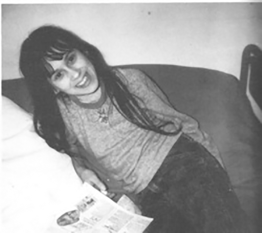 Black and white photo of Sheila, Ronald Gene Simmons' daughter