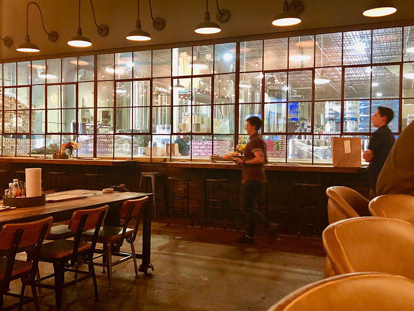 A view from the Lost Forty taproom.