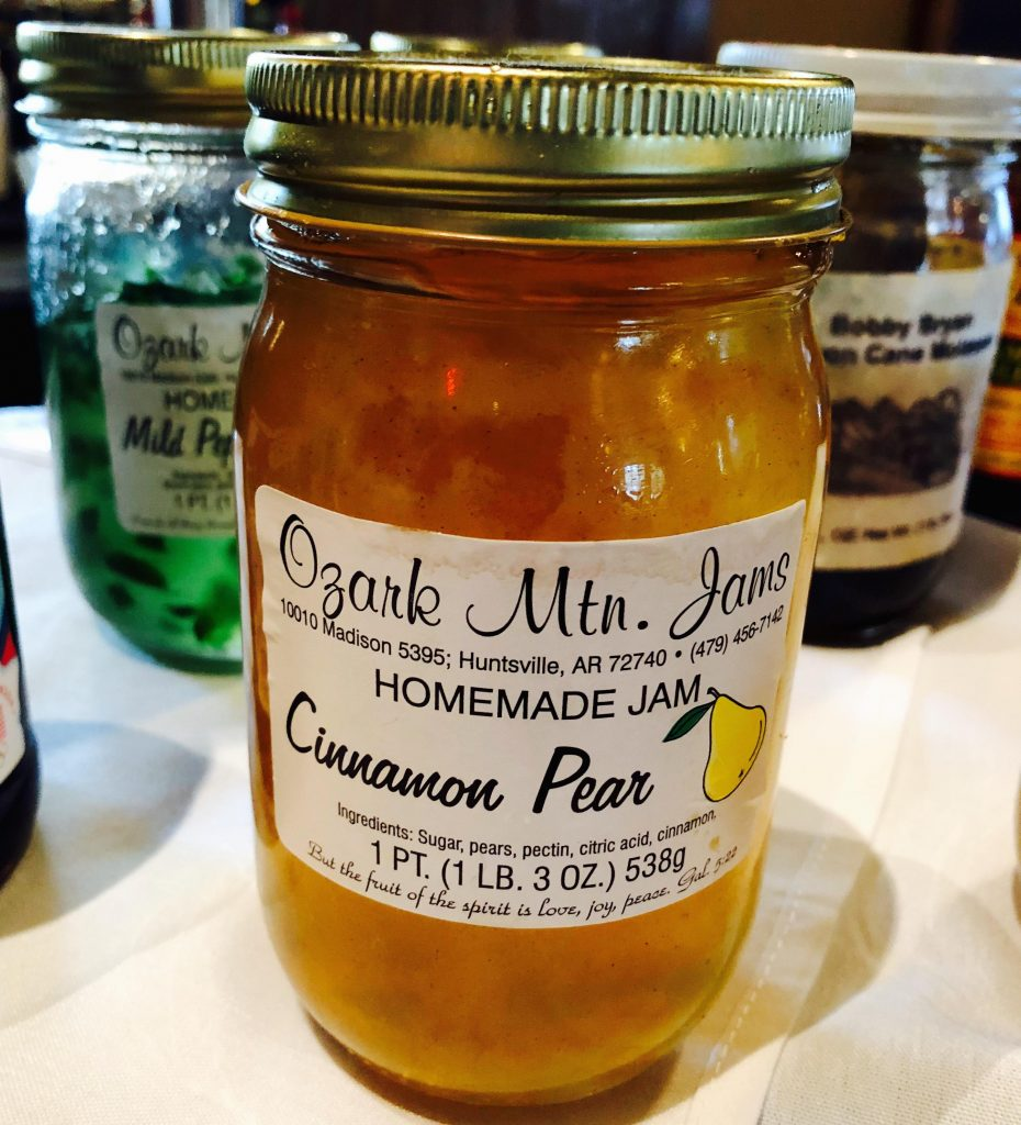 Ozark Mountain Jams cinnamon pear jam made in Arkansas