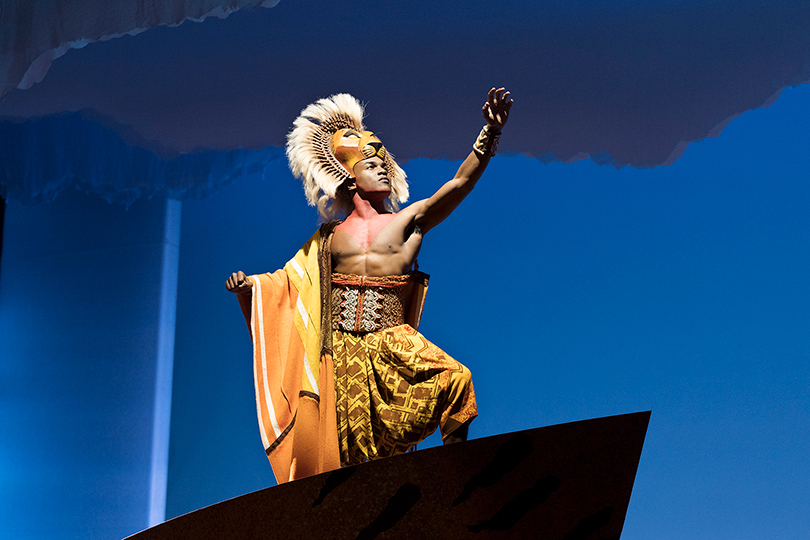 Actor Gerald Caesar plays Simba in the U.S. tour of The Lion King, which will stop in Little Rock.