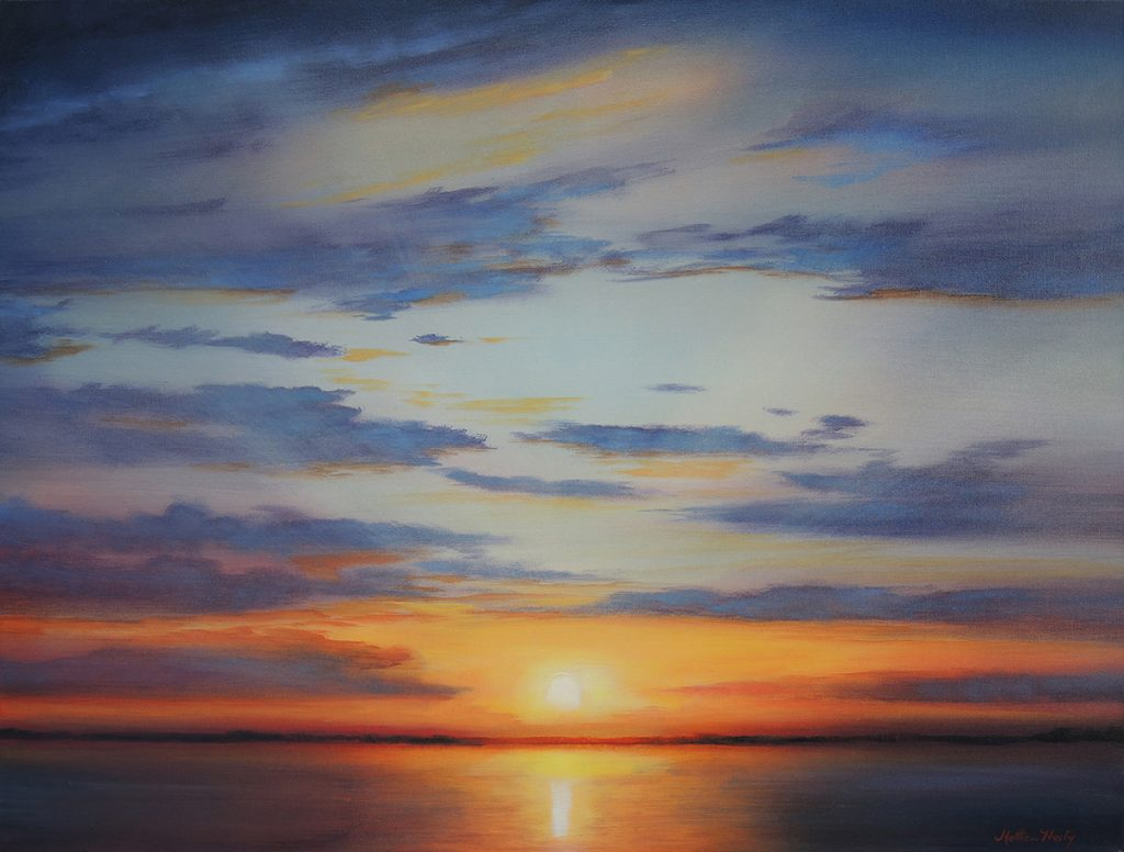 """Solstice Sun,"" a landscape painting by Memphis artist Matthew Hasty, will be on display at the Justus Fine Art Gallery in Hot Springs during April"