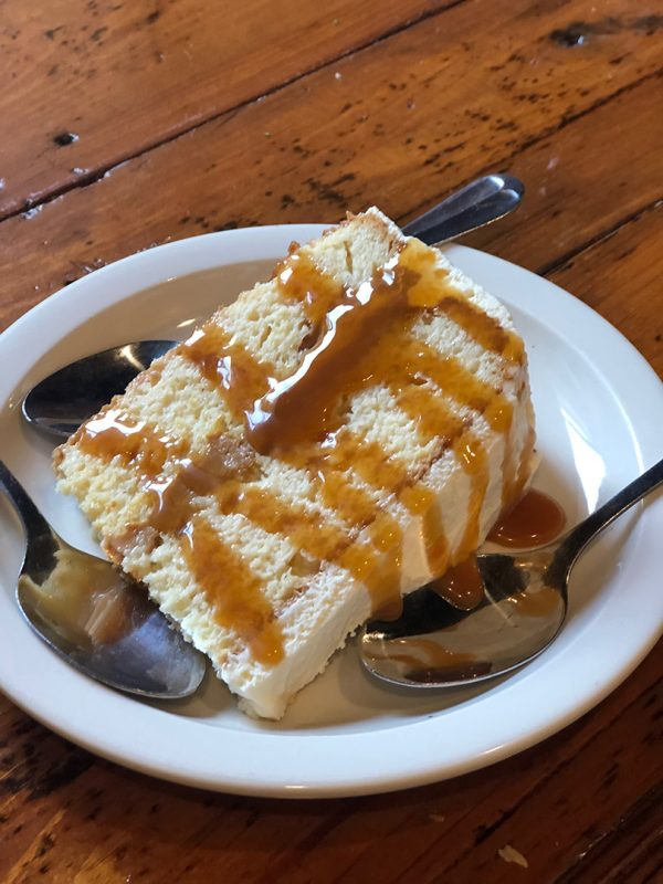 Decadent Cuatro Leches Cake from Buenos Aires Grill and Cafe in Little Rock, Arkansas.