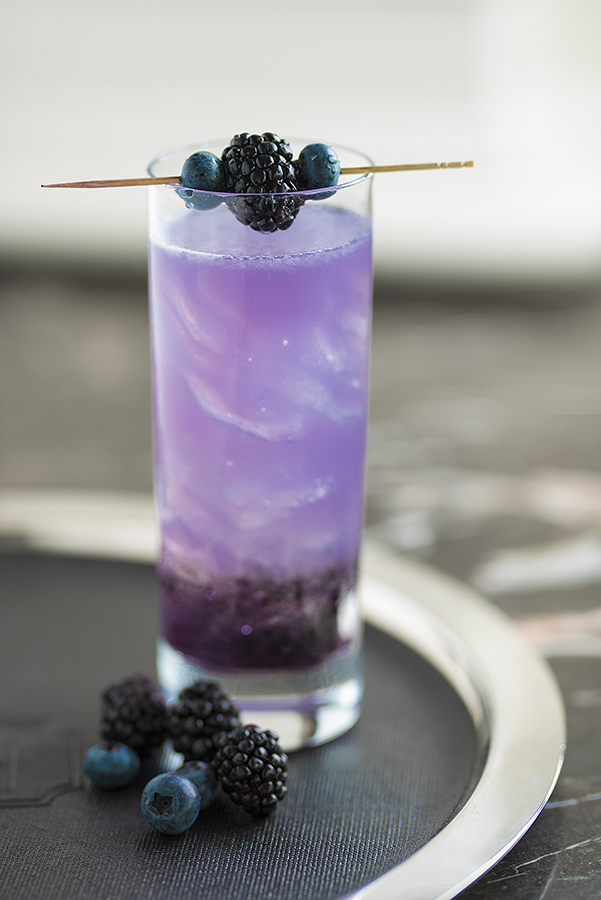A lavender margarita from the Capital Bar