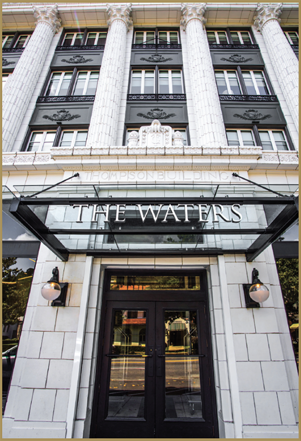 The Waters Hotel building front