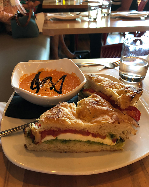 A sandwich at Raduno Brick Oven and Barroom in Little Rock.