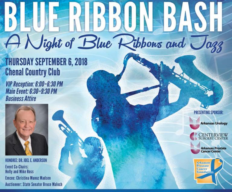 Flyer for Rockin' Blue Ribbon Bash 2018