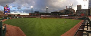 Baseball field and sky