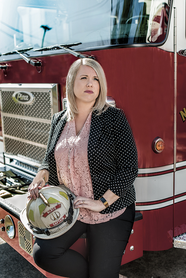 Sara Jones, Ph.D., whose husband is a firefighter, has dedicated her time to studying the mental health of first responders at UAMS.
