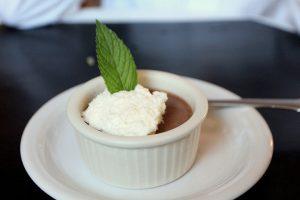 Chocolat dessert on a white plate