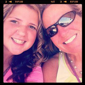 Jordan Merrick with her mother