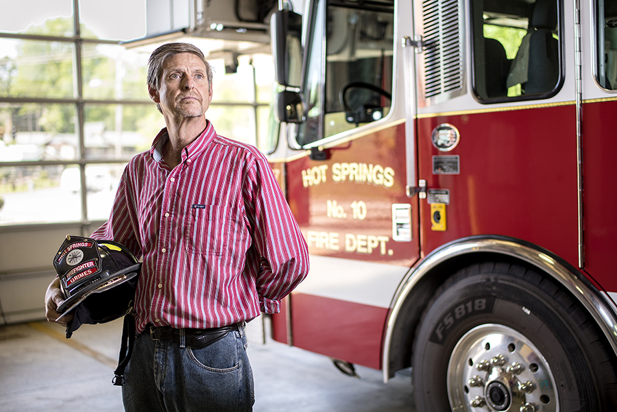 Timothy Grimes, who spent 26 years with the Hot Springs Fire Department, began to experience PTSD after 20 years on the job.