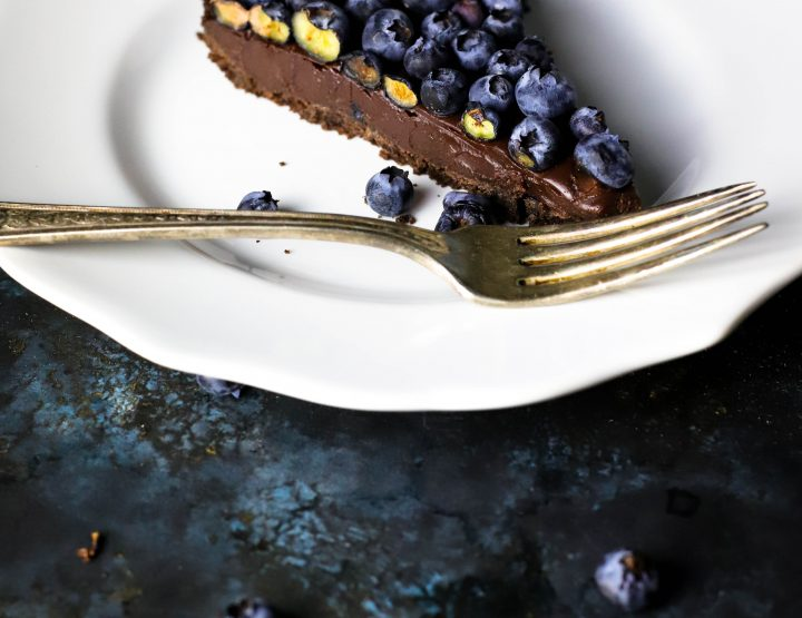 Ritika on the Rock: Dark Chocolate Blueberry Silk Tart