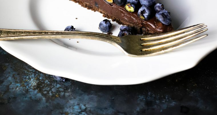 Ritika on the Rock: Dark Chocolate Blueberry Silk Tart