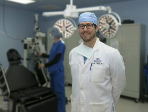 doctor in coat and hat