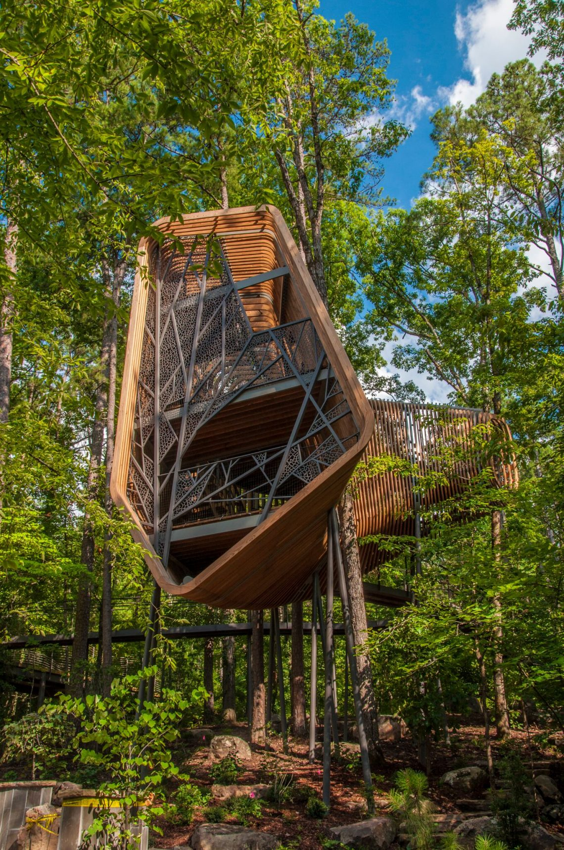Garvan Woodland Gardens Opening Of Bob and Sunny Evans Tree House